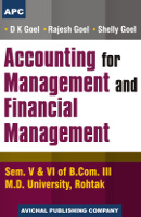 Accounting for Management and Financial Management Semester V & VI of B.Com. III (M.D.U.)