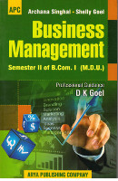 Business Management B.Com. I Semester II