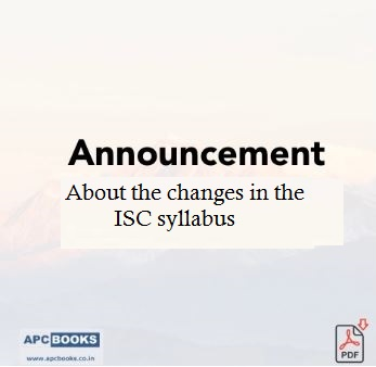 Announcement: Changes in Accountancy ISC Syllabus for 2020-21