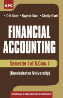 Financial Accounting B.Com. I Semester I, (KU) (Set of 2 Vol)