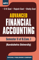 Advanced Financial Accounting  (Sem. II of B.Com I) (K.U.) (Set of 2 Vol.)