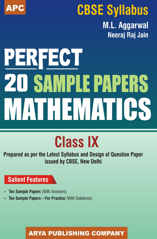 Perfect 20 Sample Papers Mathematics Class- IX by M L