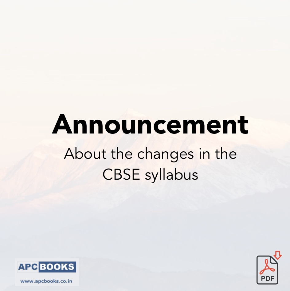 Changes in the CBSE syllabus