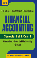 Financial Accounting - Semester of B.Com.I (CDLU) (Sirsa)